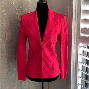 YSL vintage silk hot pink blazer